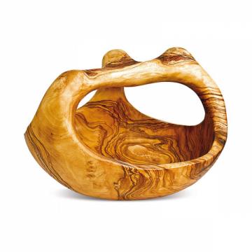 Košík z olivového dřeva