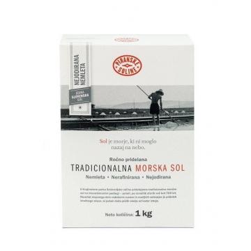 Tradiční mořská sůl 1kg v kartonové krabici - hrubá