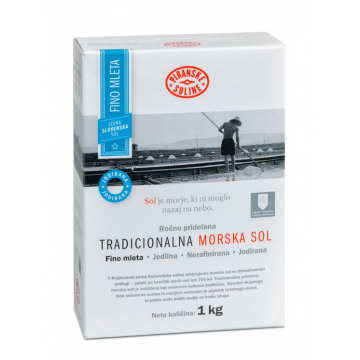 Tradiční mořská sůl 1kg v kartonové krabici - jemná