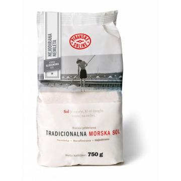 Tradiční mořská sůl 750g v tašce - hrubá, nerafinovaná