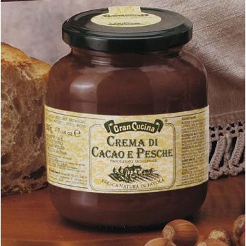 Kakaový krém s broskvemi 380g