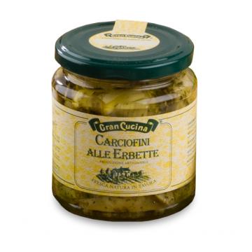 Artyčoky se směsí bylin v olivovém oleji 280g