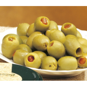 Plněné zelené olivy v olivovém oleji 280g