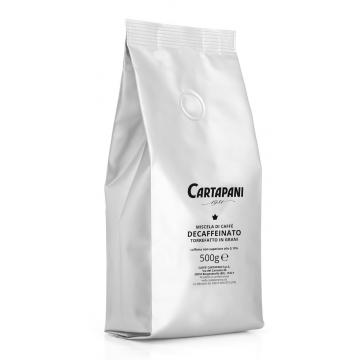 Káva zrnková CARTAPANI bez kofeinu  500 g