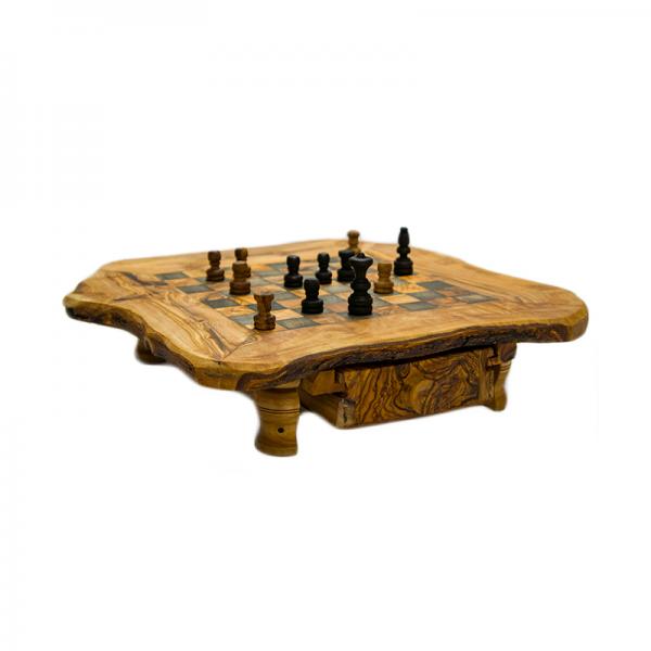 Šachy se šuplíkem 30 x 30 cm