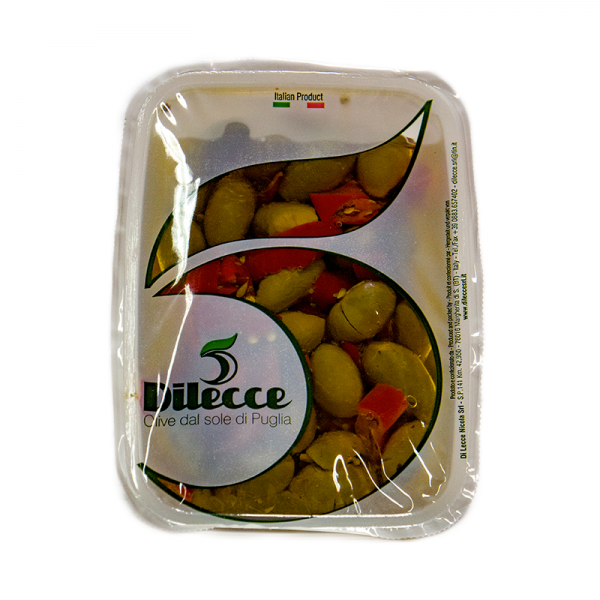 Olivy zelené pikantní rozmáčknuté v nálevu 520 g